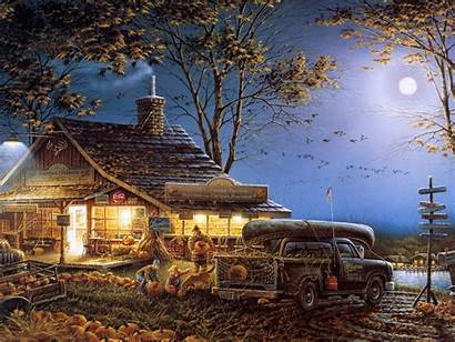 Country Scenes Fall Desktop Wallpapers Redlin Terry