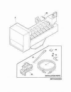 Ice Maker Diagram  U0026 Parts List For Model Ffss2614qp1a