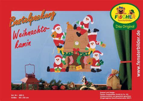 Fensterbilder Weihnachten Basteln by Fensterbild Bastelvorlage Weihnachtskamin Fischer