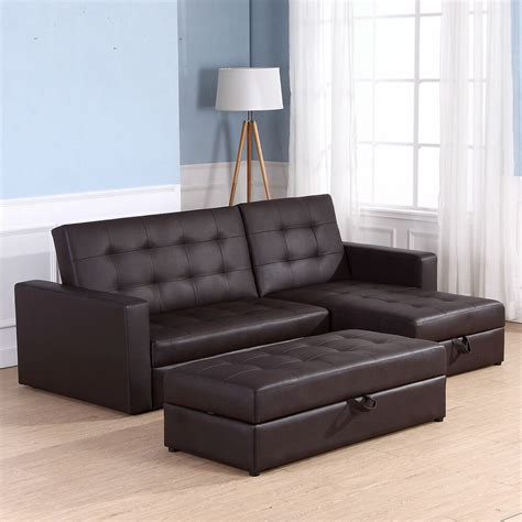 homcom sofa bed  seater foldable storage sectional living