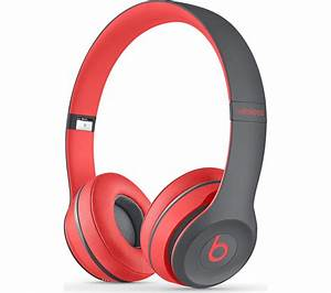BEATS BY DR DRE Solo 2 Wireless Bluetooth Headphones - Red ...