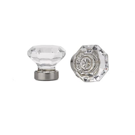 old town clear cabinet knob crystal porcelain