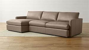 Lounge ii leather 2 piece left arm chaise sectional sofa for Lounge ii 2 piece sectional sofa