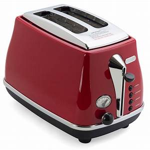 DeLonghi Icona Toaster Red Two Slice Peter39s Of Kensington