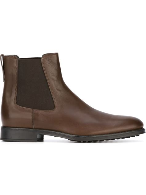 tods chelsea ankle boots  brown  men lyst