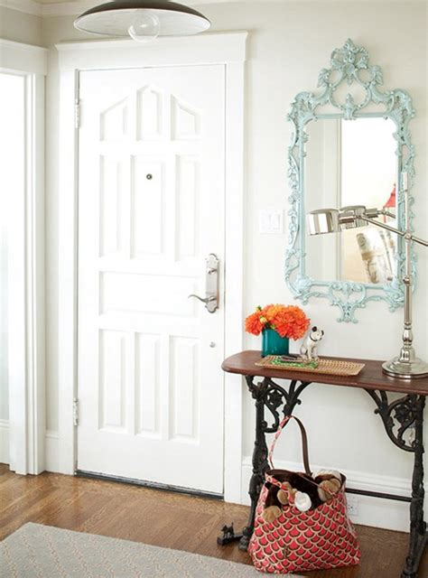 Entryway Mirror Ideas - simple details ideas for a small entry