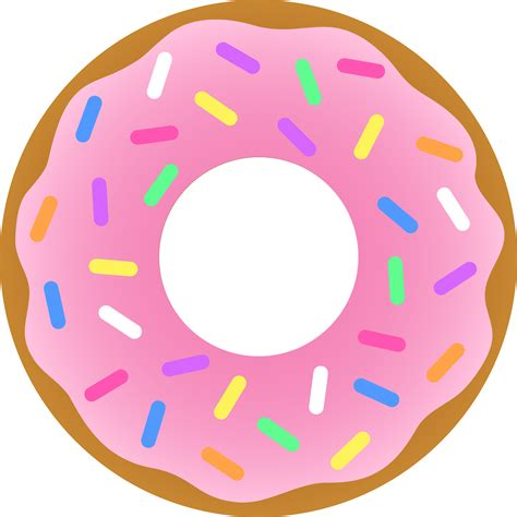 strawberry donut  sprinkles  clip art