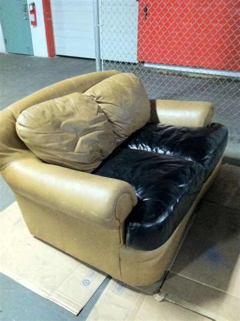 Spray Paint Leather Sofa by Check Out The New Leather Cote Spray For Or Stained