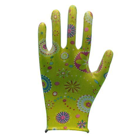 garden gloves floral transparent smooth nitrile gloves