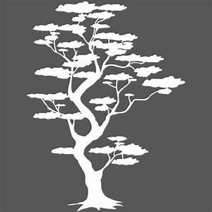 Stickers Arbre Noir : sticker arbre nuages japon nature arbres destock stickers ~ Teatrodelosmanantiales.com Idées de Décoration
