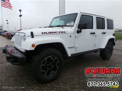 white jeep 2016 2016 bright white jeep wrangler unlimited rubicon hard