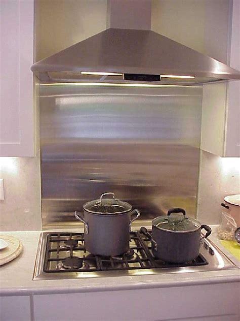 backsplash stainless steel stove metal kitchen ikea gas behind range tile wall panels sheet depot cooktop backsplashes ss stone around
