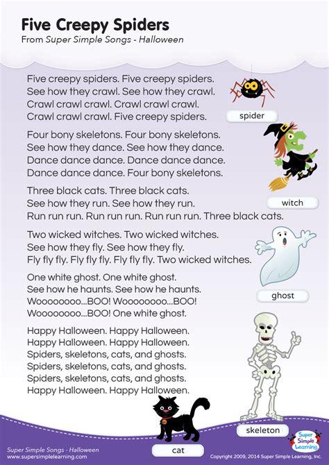 creepy spiders lyrics poster super simple