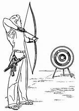 Bow Arrow Coloring sketch template