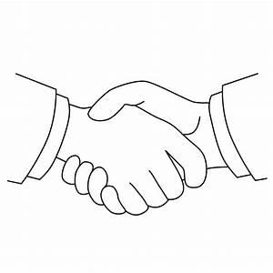 Handshake Picture - Handshake Coloring Page