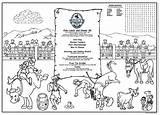 Coloring Menus Rodeo Children Menu Activity Restaurants Kid Placemats Optional Childrens sketch template