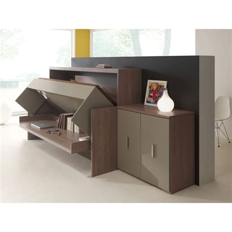 lit bureau but bureau lit rabattable commode laque office