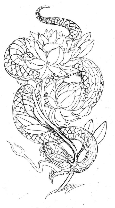 Image result for dragon japanese outline | Japanese snake tattoo, Snake tattoo design, Dragon