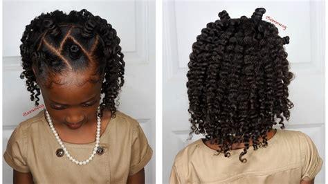 mini bantu knots wtwo strand twistout kids natural hairstyle iamawog youtube