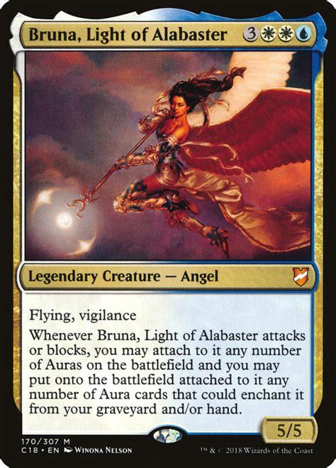 bruna alabaster light mtg commander magic damage edhrec gathering card angels commanders flying c18 creatures angel legendary deck generals vigilance
