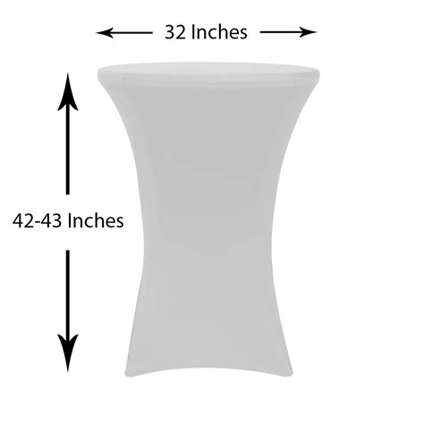 32 inch highboy cocktail spandex table covers white