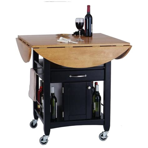 home styles expandable dining cart  closed storage