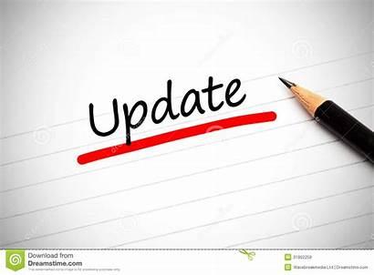 Word Update Notepad Underlined Scritto Written Note