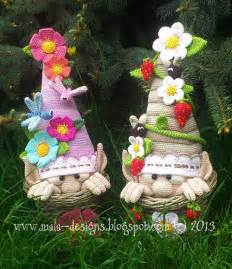 mala design garden gnomes crochet pattern by mala designs
