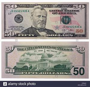 Fifty dollar bill, back and front Stock Photo: 47960149 ...