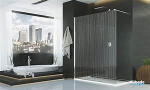 Paroi de douche fil d39eau sanswiss espace aubade for Salle de bain design avec fil métallique décoratif