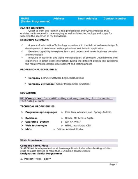 Best Resume Exle For Freshers by Resume Images For Freshers Letter Exles Format Hd