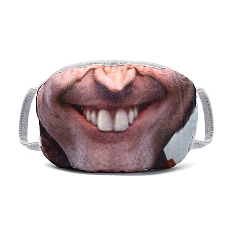 Generic Funny 3D Human Face Mouth Mask Anti Dust Mouth