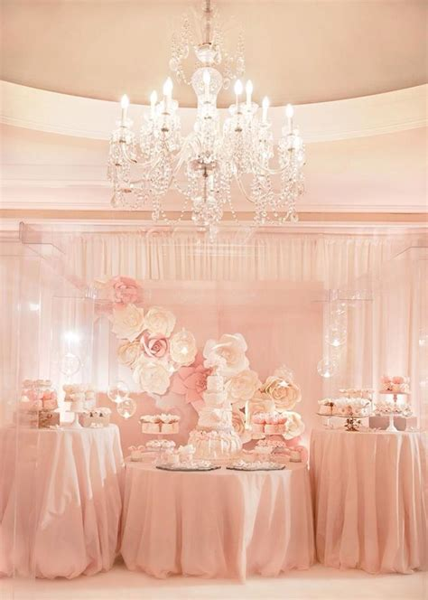 pink dessert table baby shower pink and gold sequin baby shower pink dessert table