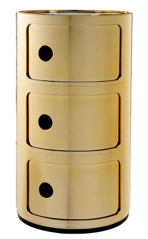 Les meubles kartell vont faire de votre intérieur un hâvre de paix ultra design. Rangement Componibili Kartell - Or   Made In Design
