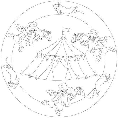 Circustent Kleurplaat by Mandala Circustent Circus Kleurplaten