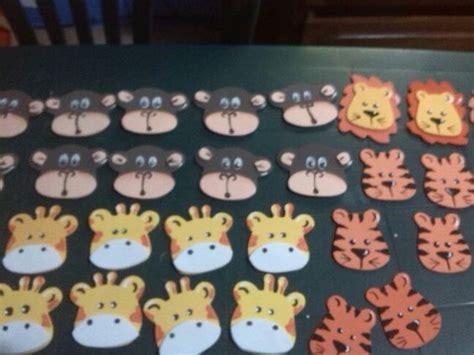 caritas de animales de selva distintivos en foami mis trabajos animales