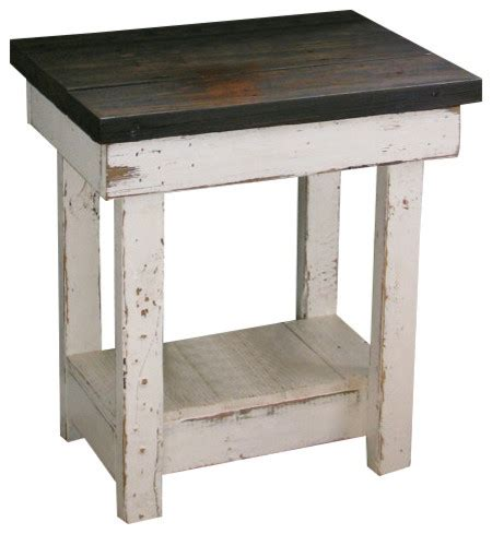 white distressed end tables sookie distressed end table white rustic side tables 1289