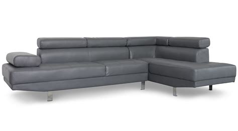 canape d angle simili canapé d 39 angle avec têtières relevables simili gris olda