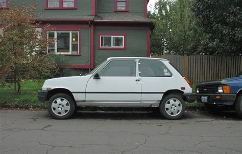 renault hatchback from the 1980s old parked cars 1982 renault electric le car