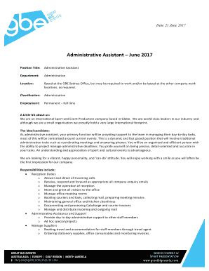 Cover Letter For Consular Assistant by Administrative Assistant Cover Letter Pdf Fill Out