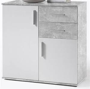 Kommode Grau Weiß : anrichte weiss grau ~ Watch28wear.com Haus und Dekorationen