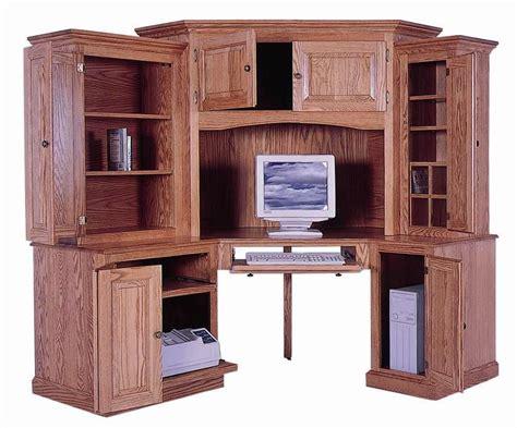 corner computer desk cabinet amish 6 piece classic computer corner desk