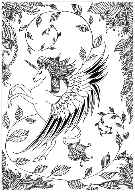 disegno  unicorno da colorare disegni da colorare