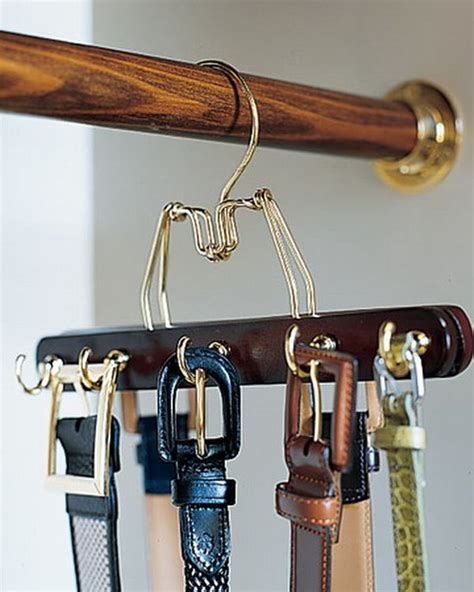 Belt Holder For Closet by Diverse Storage Ideas For Your Belts