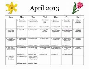 calendar 2014 monthly dinner menu calendar template 2016 With monthly dinner menu template