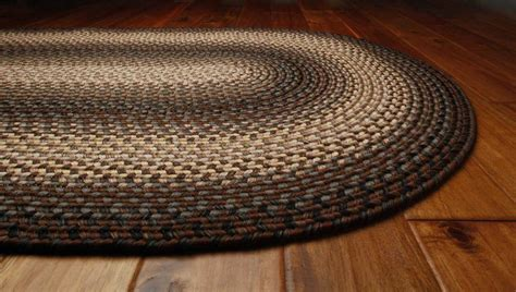 Homespice Decor Ultra Durable Braided Oval Brown Area Rug
