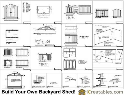 10x16 shed floor plans 10x16 gable shed plans with taller walls