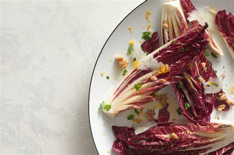 treviso food treviso salad with orange vinaigrette and manchego recipe epicurious com