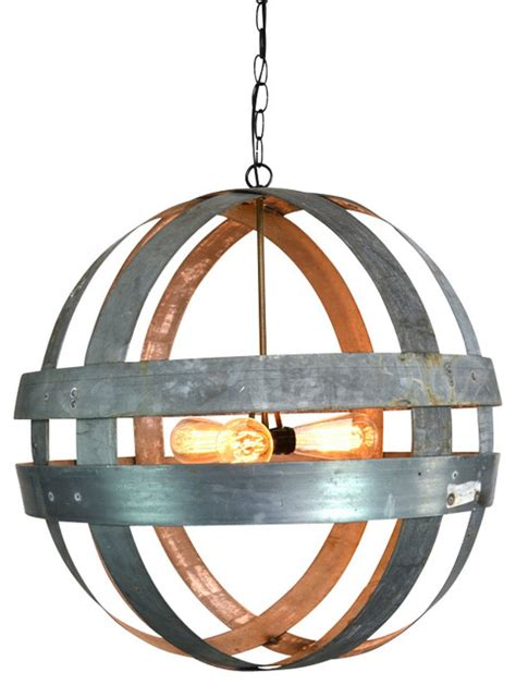 atom cyclopean wine barrel ring chandelier rustic