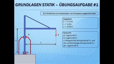 technische mechanik grundlagen statik uebungsaufgabe nr